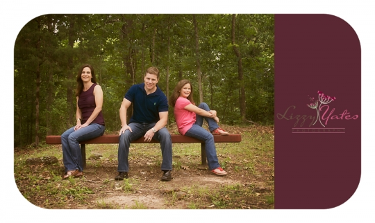 A Chenal Family of three was photographed in North Little Rock