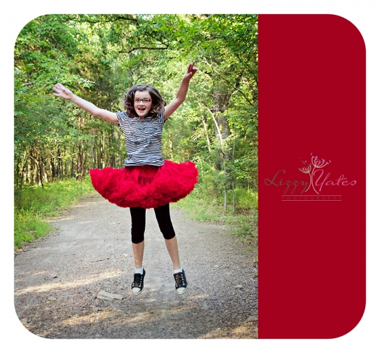 Jumping for Joy in a red tutu, Little Rock Children
