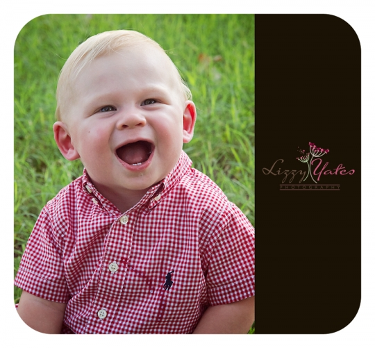 Cabot toddler smiles for a North Little Rock photography session