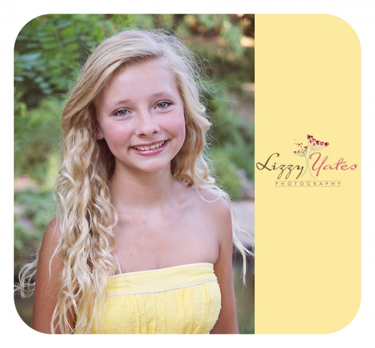 Beautiful young woman in a yellow dress during a school picture session at the Old Mill in North Little Rock