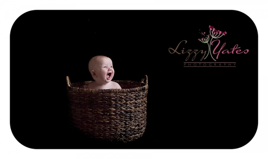 How exciting 6 month old girl smiles big for her baby photography session