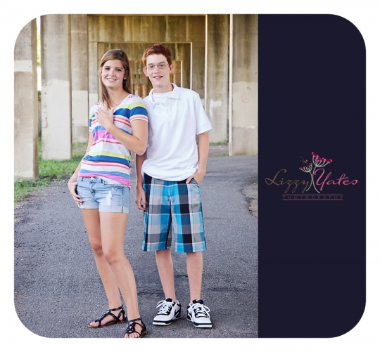 Brother and Sister during an urban senior photography session in Little Rock