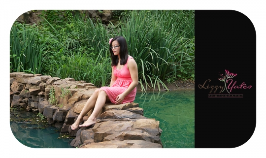 A Peaceful Moment at the pond at the old mill during a photography session for this beautiful senior girl