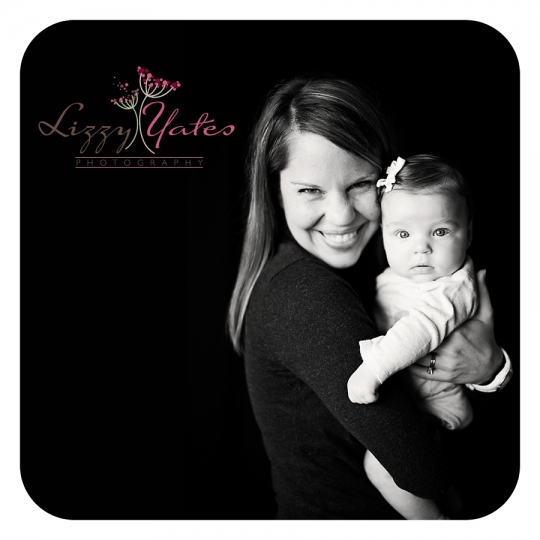 Black and White Family Portraits in Little Rock Arkansas capturing a mother and her baby