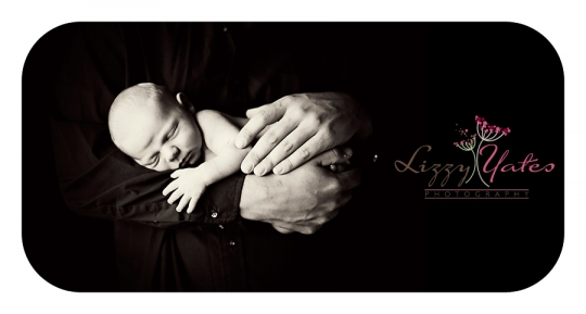 Newborn Baby Boy in his fathers arms in Little Rock Arkansas
