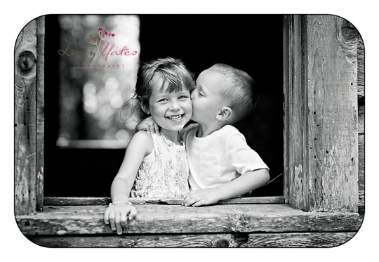 Sweet Siblings during a custom photography session in North Little Rock Arkansas in Burns Park