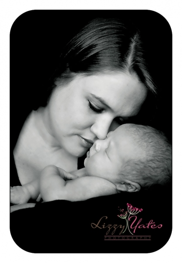Little Rock Newborn Pictures of Mother and Baby in Black and White