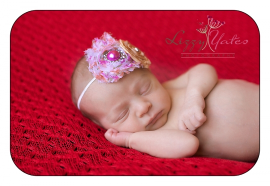 Newborn Cabot girl during her newborn pictures