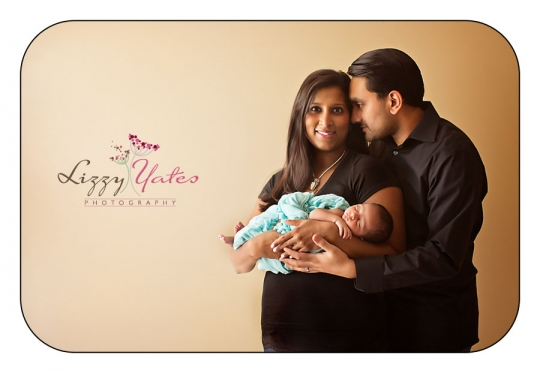 beautiful family with newborn baby boy little rock