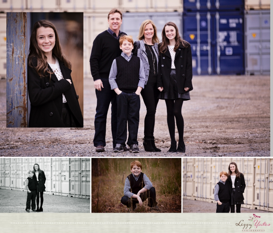 urban holiday family pictures in little rock arkansas